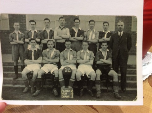 Abergele Grammar School football team 1943-44 - Derek Genders