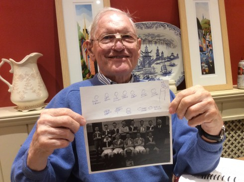 Abergele Grammar School football team 1943-44 and Derek Genders