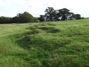 Remnants of training trenches at the site of the Kinmel Park Camp