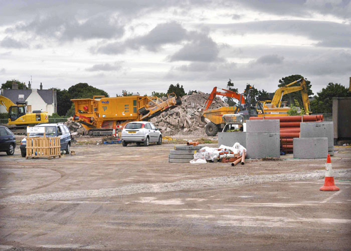 Building Tesco Abergele in 2003 on the site of the old Abergele livestock market which closed in 1996 Photo by local photographer Sion Jones