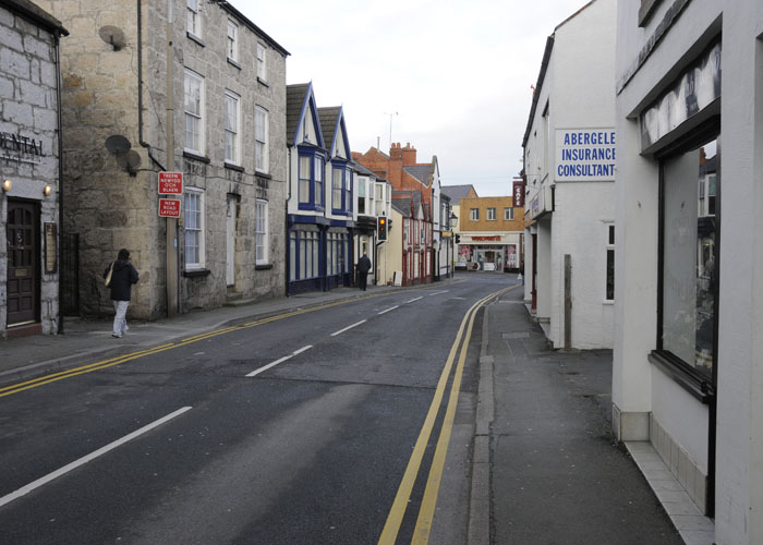 Chapel Street looking north towards the old Woolworth shop. Photo Sion Jones 2012-3