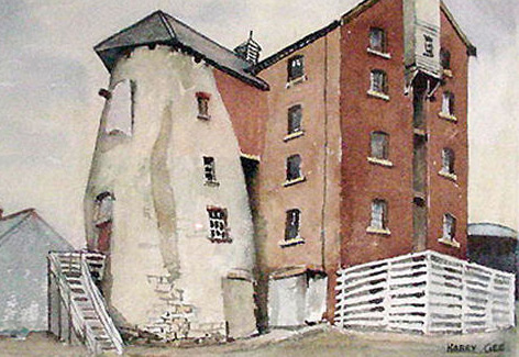 The Old Windmill, Abergele. Painting by Harry Gee.